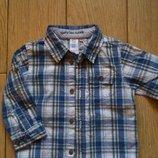 Классная рубашечка на мальчика, рост 74-80 см.