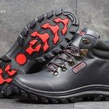 Зимние ботинки Ecco dark blue/red
