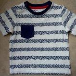 футболка TU мальчику на 6-9 месяцев рост 68-74см
