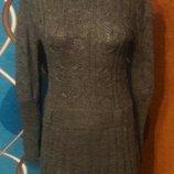 Шоколадное вязаное платье, суперцена, последнее, р.42-46