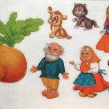 Фетр с рисунком принтом Сказки и мультфильмы в ассортименте