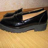 Tu туфли еколак 36 р по ст 23.5 см каблук 4 см ширина 8 см