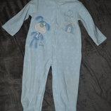 флисовый человечек слип пижама Babyblue 18-24 см рост 92 см
