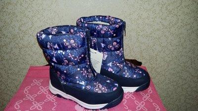 Зимние ботинки дутики на девочку Bi&Ki 28 р маломерят