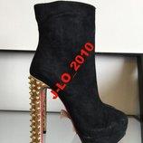 ботинки замша натуральная 39р