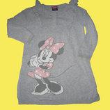Теплое платье с Минни-Маусом,рост 92-98 см,Disney