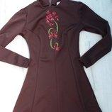 шикарное платье по фигурке с пышной юбочкой