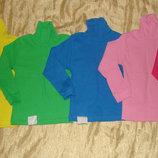 Водолазка хлопок, хб рубчик, гольф, цветные, однотонные, синий, розовый
