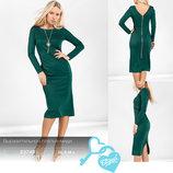 Выразительное платье-миди