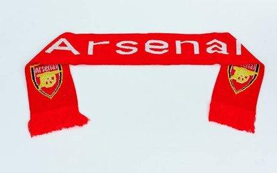 Шарф зимний для болельщиков двусторонний Arsenal 3031 длина 145см