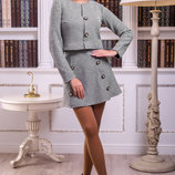 Удобный костюм 848 состоящий из юбки трапециевидной формы и пиджака