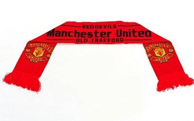 Шарф зимний для болельщиков двусторонний Manchester United 3028 длина 145см