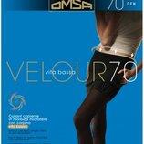 Доставка бесплатно. колготки омса велюр 70 ден, низкая талия- очень мягкие. цвет черный