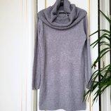 Платье теплое и съемный снуд Италия S/M люкс серое