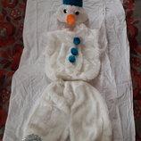 Прокат костюма карнавального, новогоднего снеговика на 3-6 лет