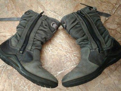 717298119 Ботинки полусапожки ECCO демисезонные для девочки нубук. Previous Next