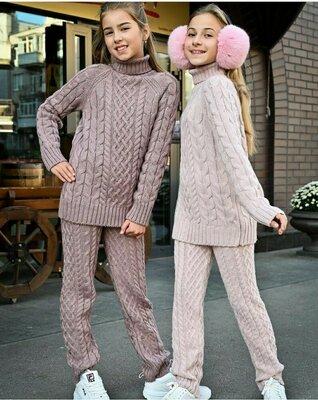Вязаный костюм,детский костюм,тёплый свитер,штаны,вязаный комплект,тёплые штаны,