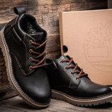 Зимние мужские ботинки Timberland, коричневые, натуральная кожа