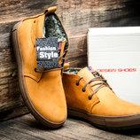 Зимние мужские ботинки Montana, на меху, песочные