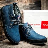 Зимние мужские ботинки Montana, на меху, синие