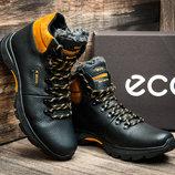 Зимние ботинки Biom мужские, на меху, черные с желтым