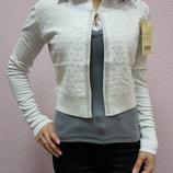 Женская кофточка-болеро, 15 % кашемир, 30% шерсть, универсал,плотная, теплая