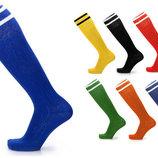 Гетры футбольные мужские 5607, 7 цветов 40-45 размер, х/б нейлон