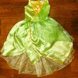 платье Динь 7-8 лет Disney тинкер бел Тиана новогоднее карнавальное