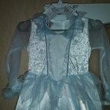 Карнавальное платье Снежинка, Снежная королева 4-7 лет