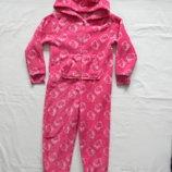 Слип флисовый пижама, домашний костюм F&F на 4-5 лет.