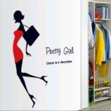 Интерьерная наклейка Pretty girl
