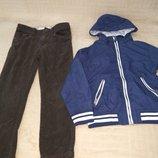 Продам одним лотом ,вельветовые штаны и куртку-ветровку