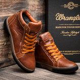 Зимние ботинки Wrangler, мужские, рыжие, натуральная кожа