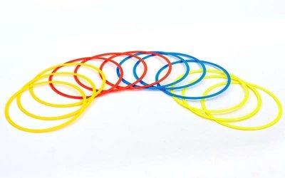 Кольца тренировочные футбольные в чехле 6422-50 12 колец, диаметр 50см