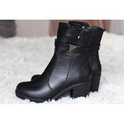 ca161926c Зимние кожаные ботинки на устойчивом каблуке.В наличии: 1330 грн ...