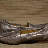 Изящные перламутровые серебристые кожаные лоферы Paul Green Австрия 39