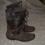 зимние термо ботинки Elefanten tex 20.5-21 см стелька Германия отл сост кожа