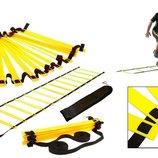Координационная лестница дорожка для тренировки скорости 4111 6м, 12 перекладин 6мx0,52мx4мм