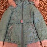 красивая зимняя куртка next zara hm на 10 лет в отличном состоянии