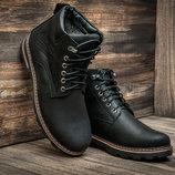 Зимние ботинки мужские Wrangler, черные, натуральная кожа