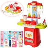 Детская игровая кухня 889-52-53, 24 предмета. Звуковые и световые эффекты.