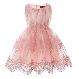 Нежное розовое платье Вышивка Новинка