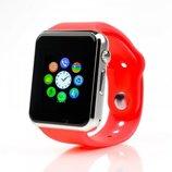 Умные часы Smart Watch A1 красные Sim карта камера