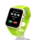 Умные часы Smart Watch A1 зелёные Sim карта камера