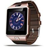 Умные часы Smart DZ09 медые Поддержка сим-карты