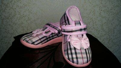 Текстильные тапочки для девочки Тм Шалунишка 24,32 р