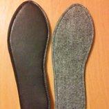 Стельки для обуви зимние, войлок, размер 40