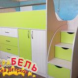 Кровать детская с тумбами и ящиками дл5