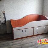 Кровать детская с тумбой и ящиками д3