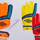 Перчатки вратарские юниорские Umbro FB-838 3 цвета, размер 7-9